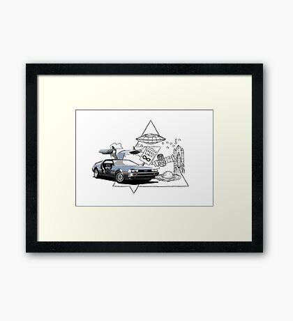 DeLorean DMC-12 (silver) Framed Print