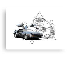 DeLorean DMC-12 (silver) Canvas Print