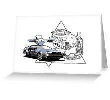DeLorean DMC-12 (silver) Greeting Card