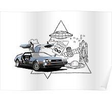DeLorean DMC-12 (silver) Poster