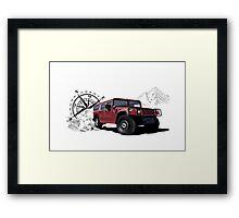 Hummer H1 (red) Framed Print