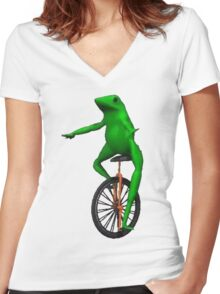 Waddup - ONE:Print Women's Fitted V-Neck T-Shirt