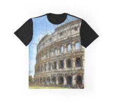 Colosseum Or Coliseum Pencil Graphic T-Shirt