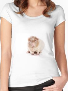 Sweet red guinea pig Women's Fitted Scoop T-Shirt
