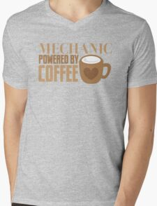 MECHANIC powered by coffee Mens V-Neck T-Shirt