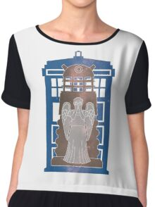 Doctor Who silhouettes Chiffon Top