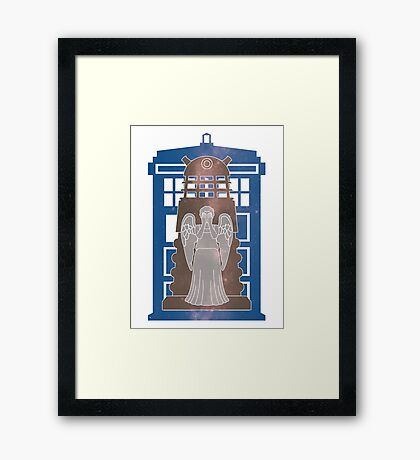 Doctor Who silhouettes Framed Print