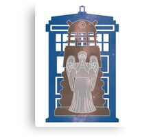 Doctor Who silhouettes Canvas Print
