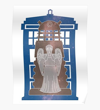 Doctor Who silhouettes Poster
