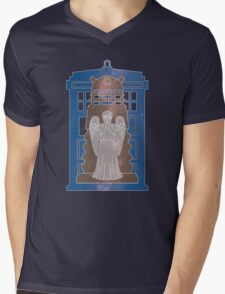 Doctor Who silhouettes Mens V-Neck T-Shirt