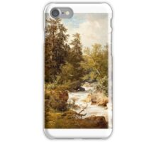 Carl Hasch, Gebirgsbach  iPhone Case/Skin
