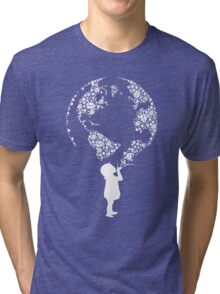Earth Child (white) Tri-blend T-Shirt