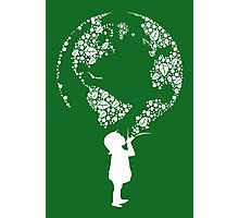 Earth Child (white) Photographic Print