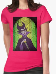 Evil fairy?! - stained glass villains Womens Fitted T-Shirt