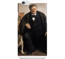Carl Locher with his dog Tiger iPhone Case/Skin