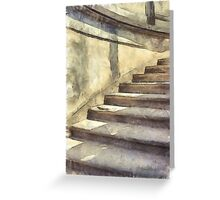 Staircase at Pitti Palace Florence Pencil Greeting Card
