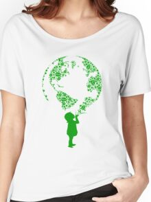 Earth Child (green) Women's Relaxed Fit T-Shirt