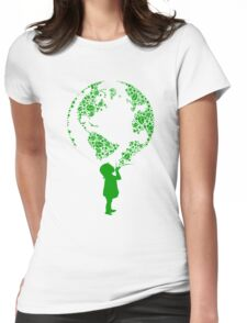 Earth Child (green) Womens Fitted T-Shirt
