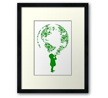 Earth Child (green) Framed Print