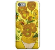 Vincent van Gogh - Still Life - Vase with Fifteen Sunflowers iPhone Case/Skin