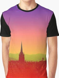 Edinburgh Skyline Graphic T-Shirt