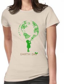 Earth Day Child Womens Fitted T-Shirt