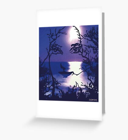 TWILIGHT FACE Greeting Card