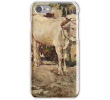 Cesare Ciani (Firenze ), Buoi al carro iPhone Case/Skin