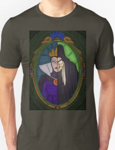 Mirror mirror - stained glass villains Unisex T-Shirt
