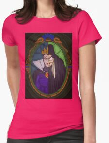 Mirror mirror - stained glass villains Womens Fitted T-Shirt