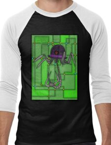Robotic Bowler Hat - stained glass villains Men's Baseball ¾ T-Shirt