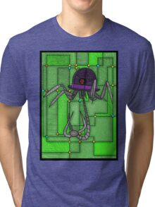 Robotic Bowler Hat - stained glass villains Tri-blend T-Shirt