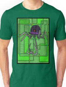Robotic Bowler Hat - stained glass villains Unisex T-Shirt
