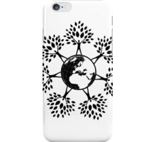 Earth Tree People (black) iPhone Case/Skin