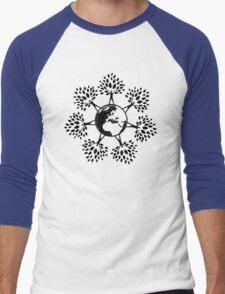 Earth Tree People (black) Men's Baseball ¾ T-Shirt