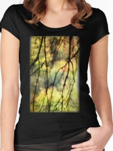 Abstract Trees Women's Fitted Scoop T-Shirt