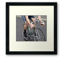 Chrome Fixie Framed Print