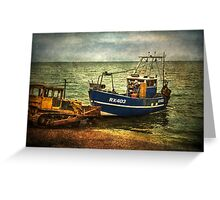 Launching from The Stade at Hastings Greeting Card