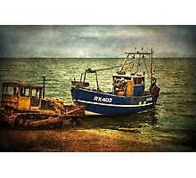 Launching from The Stade at Hastings Photographic Print
