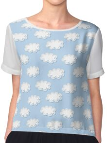 Cute clouds seamless pattern Chiffon Top