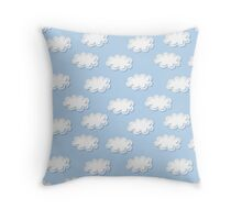 Cute clouds seamless pattern Throw Pillow
