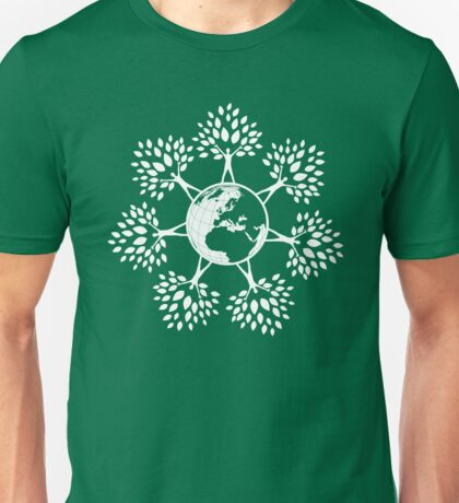 Earth Tree People (white) Unisex T-Shirt