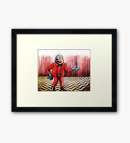 Funny Peaks Framed Print
