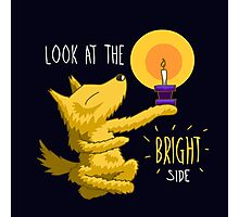 Look At The Bright Side Motivational Dog Photographic Print