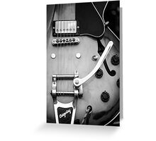 Gibson Electric Guitar Monochrome  Greeting Card