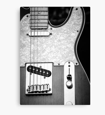Fender Telecaster Monochrome Canvas Print