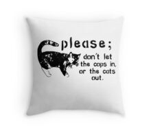 Cops&Cats Throw Pillow