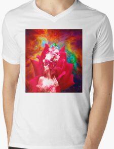 Star Flower Mens V-Neck T-Shirt