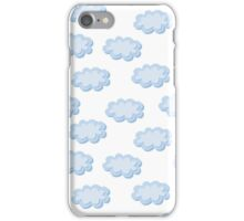 Cute clouds seamless pattern iPhone Case/Skin