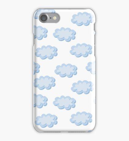 Cute clouds seamless pattern iPhone Case/Skin